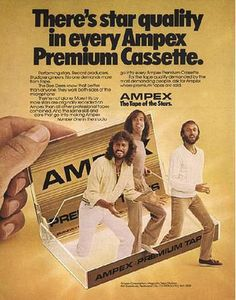 Is that the Bee Gees popping out of a cassette? Yes, yes it is.