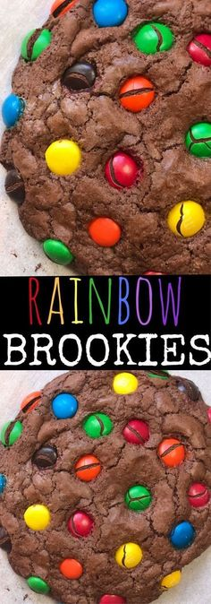 Rainbow Brookies: Easy Rainbow Brownie Mix Cookies Recipe - Snacks For Children İdeas Brownie Cookies, Cookie Dough Cake, Chocolate Chip Cookie Dough, Yummy Cookies, Chocolate Cake Mix Cookies, Chocolate Cookie Recipes, Drop Cookies, Ginger Cookies, Chocolate Chips