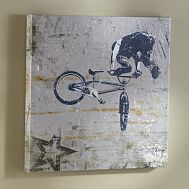 BMX Biker Wall Art from Pottery Barn- For boys room