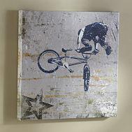 BMX Biker Wall Art from Pottery Barn- For boys room