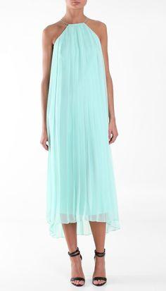tibi . silk chiffon long dress