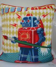 Super Cute dumpling Dynasty by Fiona Hewitt Robot Alert Pillow