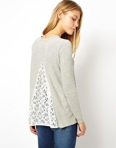 ASOS Sweater With Lace Insert