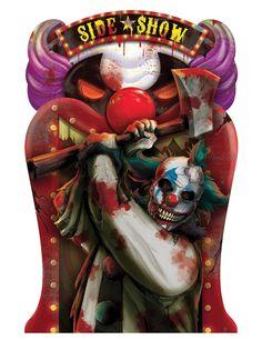 Decoración lenticular payaso Halloween 46x31 cm-1