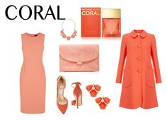 """""""Spring Beauty: Coral"""" by neflaluna ❤ liked on Polyvore featuring beauty, Mansur Gavriel, Jaeger, Dorothy Perkins, Jimmy Choo, Michael Kors, Goat, Kate Spade and coolcoral"""