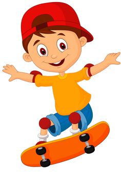 "Photo from album ""Скейтборд"" on Yandex. People Illustration, Cute Illustration, Cartoon Kids, Cute Cartoon, Theme Sport, Skateboard, Clipart Png, Drawing School, School Clipart"