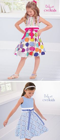 From CWDkids: Mixed Print Dresses