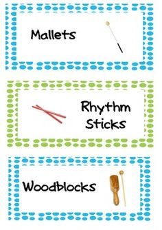 Classroom Instrument Labels - Free Download from Teachers Pay Teachers