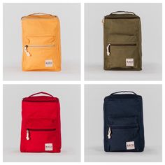 CURATE bucket backpacks in beautifully bright colours