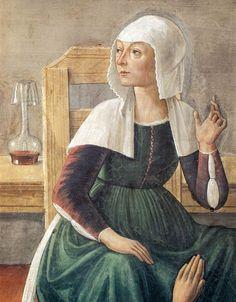 (Italy) Ghirlandaio, Domenico~Announcement of Death to St Fina Detail Circa 1474…