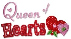 Queen of Hearts Saying Applique - 3 Sizes! | Valentine's Day | Machine Embroidery Designs | SWAKembroidery.com Bella Marie Boutique