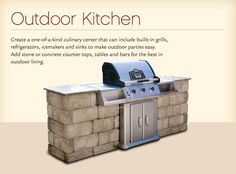 outdoor grill idea with brick