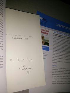 Livros e marcadores: BookBraggies : A vinha do Anjo.  Autografo
