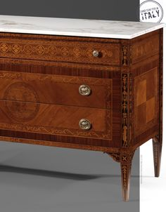 971676c9efd3 luxury furniture ideas  inlaid chest with white Carrara marble top   hand-made in