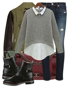 """""""Chelsea boots"""" by jacisummer ❤ liked on Polyvore featuring Mackage, Ray-Ban, Chanel, rag & bone, Christian Louboutin, women's clothing, women, female, woman and misses"""