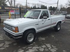 I had a 1992 ford ranger very similar to this one. Mine was plain white with different rims. I loved this truck drove it too the moon and back Ranger 4x4, Ford Ranger, Ballston Spa, Wanted Ads, Suv Trucks, Cool Cars, Chevy, Monster Trucks, Audio