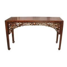 Oriental Furnishings - Chinese Antique Hebei Console Table With Golden Foo Dog Carving, $1,450.00 (http://www.orientalfurnishings.com/chinese-antique-hebei-console-table-with-golden-foo-dog-carving/)