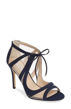 Free shipping and returns on Nina Cherie Illusion Sandal (Women) at Nordstrom.com. Shimmery mesh insets and daring cutouts define a soaring zip-back sandal styled with metal-tipped ties above the open front.