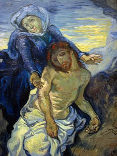 """The Pieta"" by Vincent Van Gogh, 1889. Van Gogh's first love wasn't art."