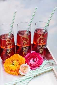 personalized glasses as favours