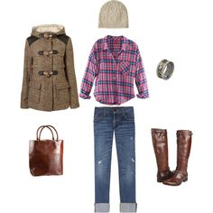 I want to wear this all winter.  Especially the Frye boots.