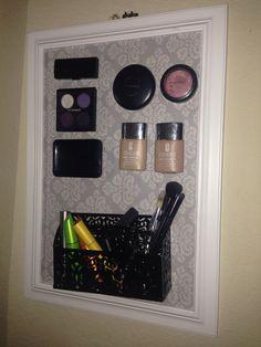 Magnetic makeup board! DIY makeup organizer. Love