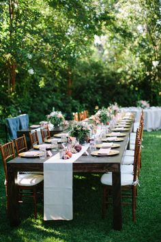 Check out more of Dan & Monica's stunning garden party wedding! #KNJdesign