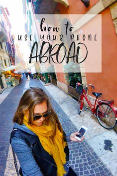 A lot of people think that you can't use your phone when you leave the country, but that's not true! There are so many ways to use your phone while traveling. Check out these travel phone plans for every budget and decide which one is right for you. Don't forget to save this to your travel board so you can remember how to use your phone abroad before your next trip. #phonetips #traveltips #phoneabroad #phoneplans