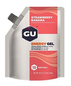 GU Original Sports Nutrition Energy Gel, Strawberry Banana, 15 Serving Pouch - http://www.exercisejoy.com/gu-original-sports-nutrition-energy-gel-strawberry-banana-15-serving-pouch/fitness/