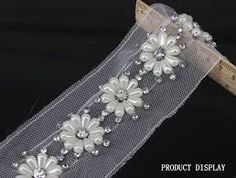 This Pin was discovered by Tsv Pearl Embroidery, Tambour Embroidery, Bead Embroidery Patterns, Couture Embroidery, Embroidery Fashion, Embroidery Stitches, Hand Embroidery, Embroidery Designs, Applique Fabric
