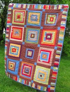 Log cabin quilt idea