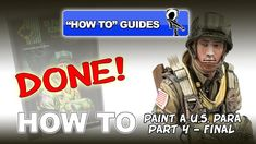 PAINTING A US 82ND AIRBORNE PARA VALLEJO ACRYLICS PT 1 EYES