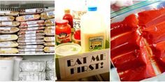 Leftover Freezer and Fridge Organization - How to Store All of Your Leftover Food