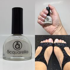 """Acquarella on Instagram: """"Today's color sneak peek is all about cut, color, clarity, and carat.  Diamond is a lustrous silver sparkle in a clear base. This one is a…"""" Water Based Nail Polish, 5 Ml, Clarity, Sparkle, Diamond, Nails, Silver, Instagram, Color"""