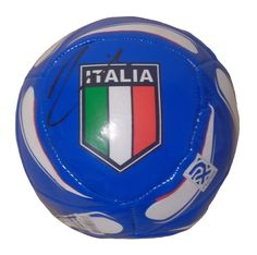Andrea Pirlo Autographed Italy Logo Soccer Ball, Proof Photo