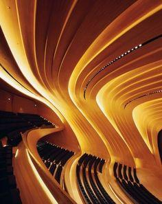 Vogue Living remembers the work of architect Zaha Hadid: Haydar Aliyev Center, Baku Photo: Helene Binet