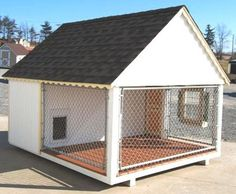No need to tie up your best buddy if you're gone all day!  At least give your furry friend some leg room & fresh air to do his thing while you do yours. Fido deserves it and so do you! http://www.doowaggle.com/luxury-dog-houses/ #doghousekennelkits #luxurydoghouses