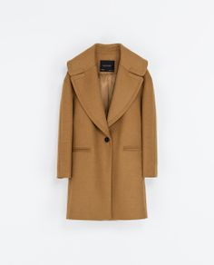 Zara Coat with Large Lapel