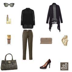 Plus Size Outfit: Khaki & Black. Mehr zum Outfit unter: http://www.3compliments.de/outfit-2015-10-02-o#outfit3