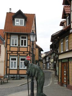 Small houses in Wernigerode, Germany