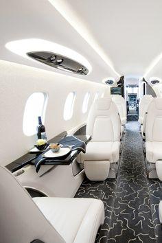 Private jet interior.