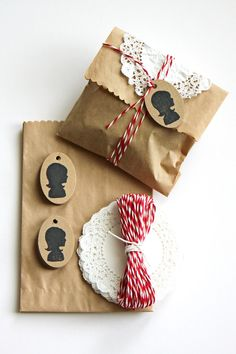 brown paper bags as gift wrap