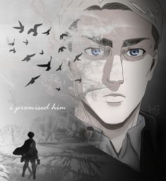 """I promised him"" - Levi Ackerman - AOT Attack On Titan Season, Attack On Titan Fanart, Attack On Titan Anime, Manga Anime, Anime Ai, Levi Ackerman, Levi And Erwin, Captain Levi, Eruri"