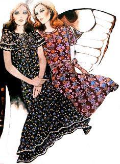 Femmes d'Aujourd'hui March 1971  Sewing pattern fashion illustrations
