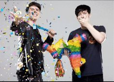 "Dans just like ""HAVE SOME CONFETTI BITCHES"" XD"