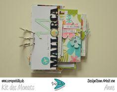 Bunterpinguin: Minialbum für Scrapabilly mit Simple Stories You are here Pockets Mallorca Travel journal