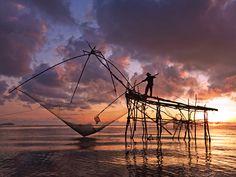 nation geograph, dawn, seas, photographs, national geographic, sunset, fishing, thailand travel, fisherman