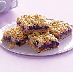 Blueberry Streusel Bars with Lemon-Cream Filling