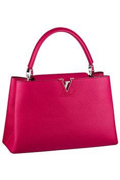 #LouisVuitton  Fuschia Capucine MM Tote Bag - Fall 2014