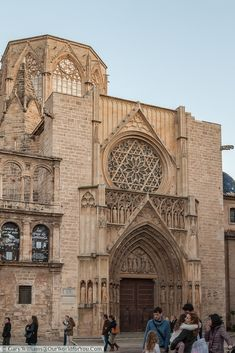 The gothic entrance to the Cathedral in Valencia, Spain Valencia Cathedral, Barcelona Cathedral, Places To Travel, Places To Visit, Spanish Architecture, You Are The World, Travel Humor, The Beautiful Country, Romanesque